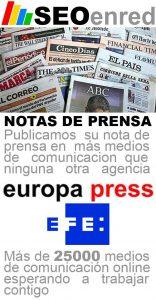 SEOenred - Publicacion de Notas de prensa